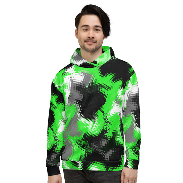 Green Abstract Pullover Rave Hoodie | BigTexFunkadelic