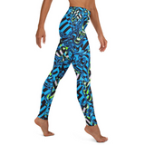Trippy Blue Checkered Yoga Leggings | BigTexFunkadelic