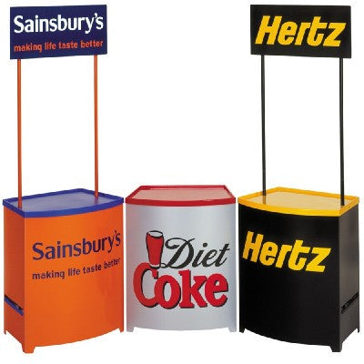 Promotional counters of Diet Coke, Hertz and Sainsbury