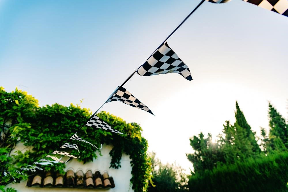 Flags at an outdoor event
