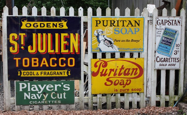 Different advertising signs