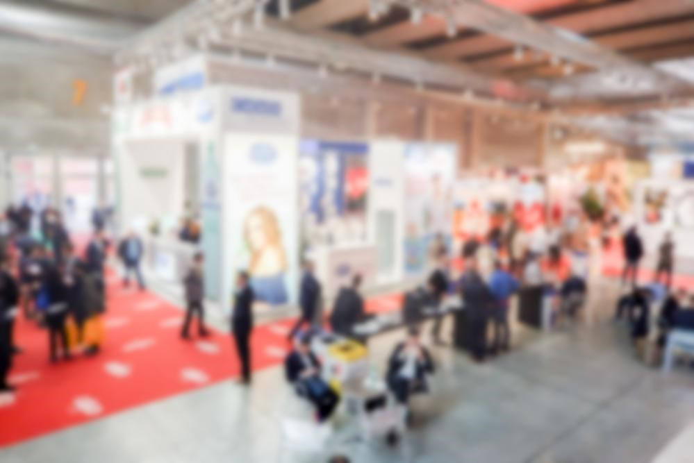 Exhibition floor at a trade show