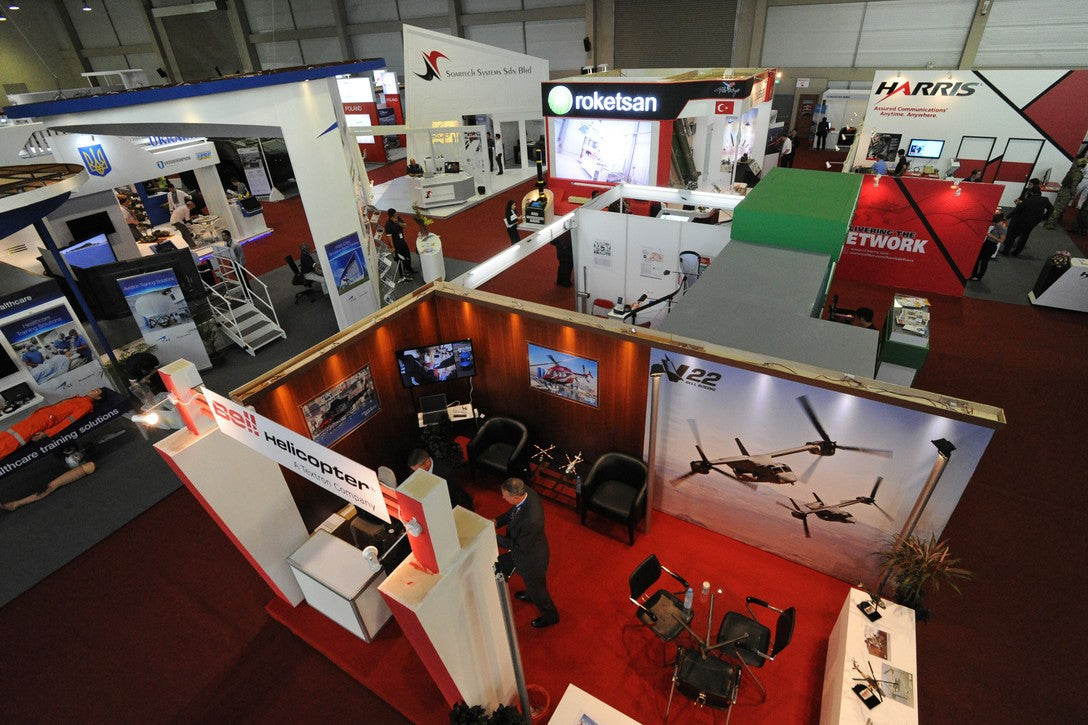 Top view of a tradeshow