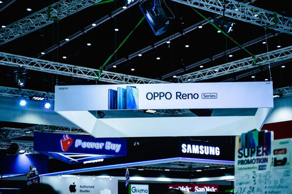 Samsung and Oppo at a Trade Show in Bangkok, Thailand