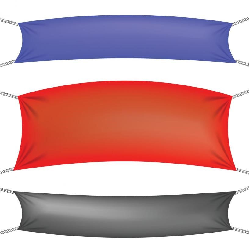 Illustration of Three Vinyl Banners