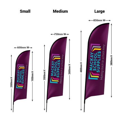 Flag Banner Bow Head Flags