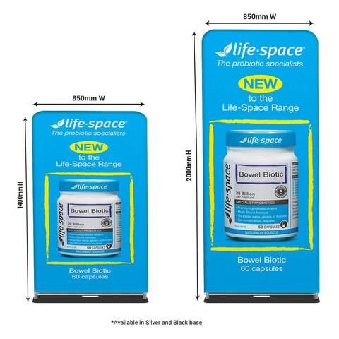 Double Sided Tension Fabric Banner Stands