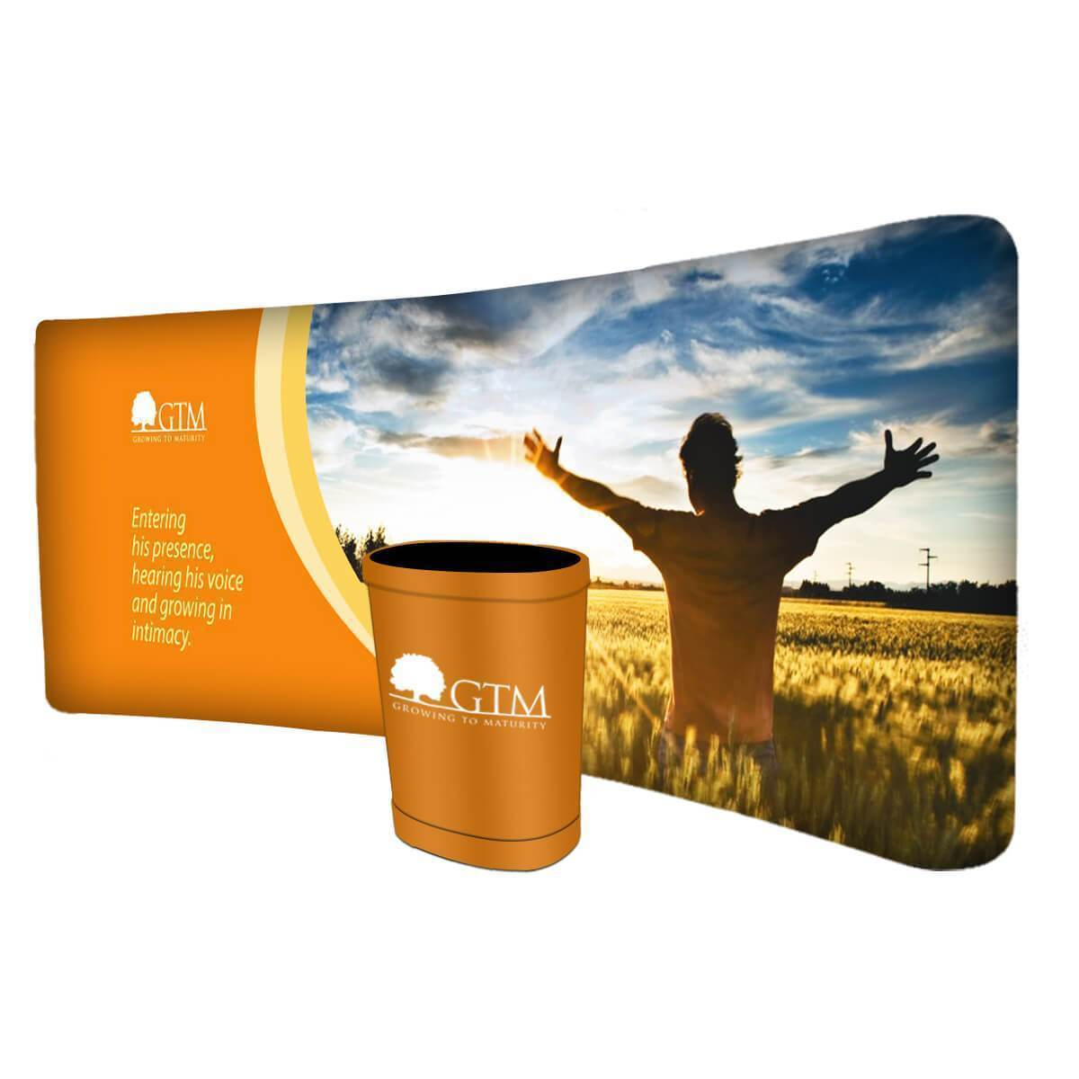 Exhibition Slimline Displays Curved (6M)