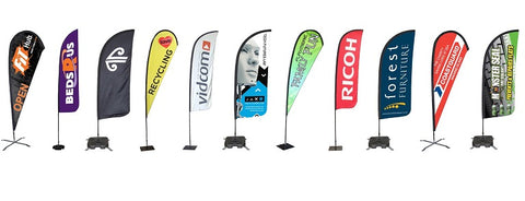 Feather flags signs