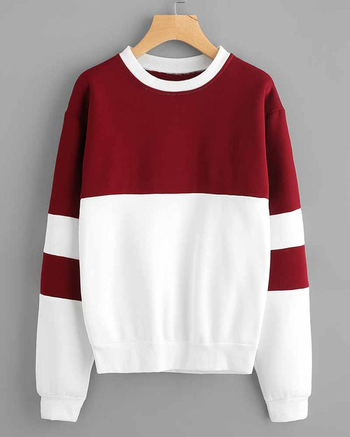 Color Block Contrast Drop Shoulder Sweatshirt