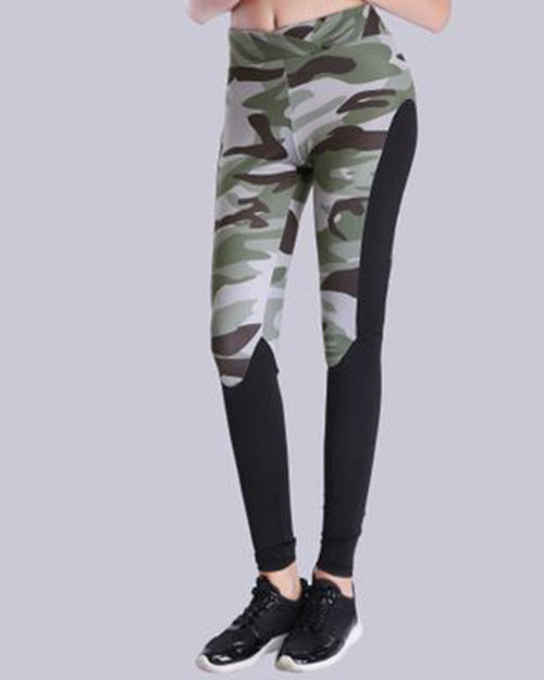 Active Camouflage Print Leggings