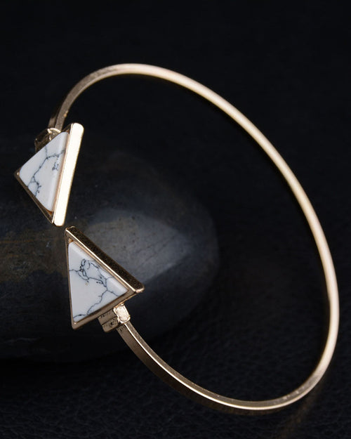 Triangle Adjustable Turquoise Bracelet