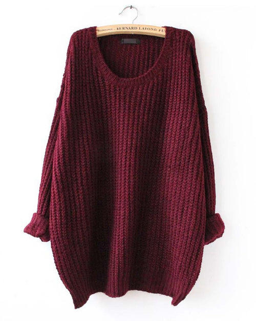 Basic Oversize Loose Jumper