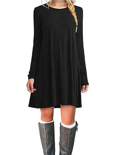 Black Casual Tshirt Dress