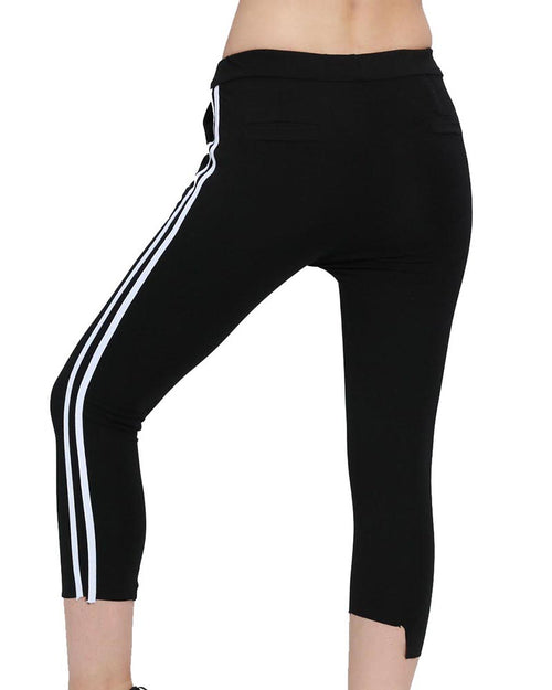 Striped Side Cut-out Sweatpants