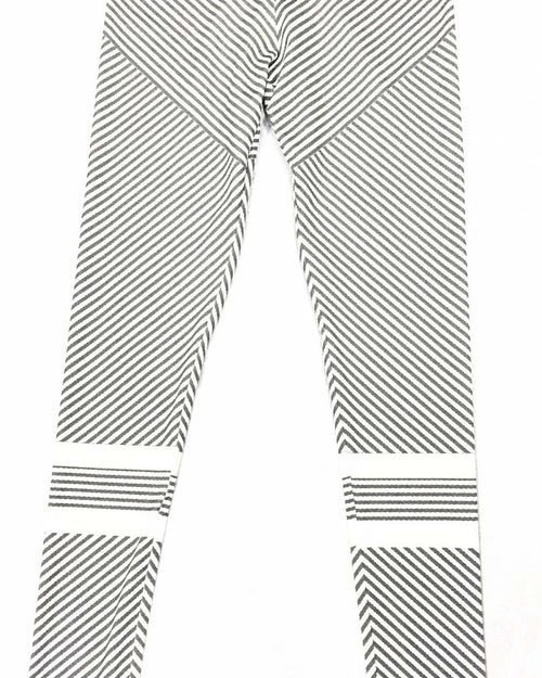 Color Block Striped Print Leggings