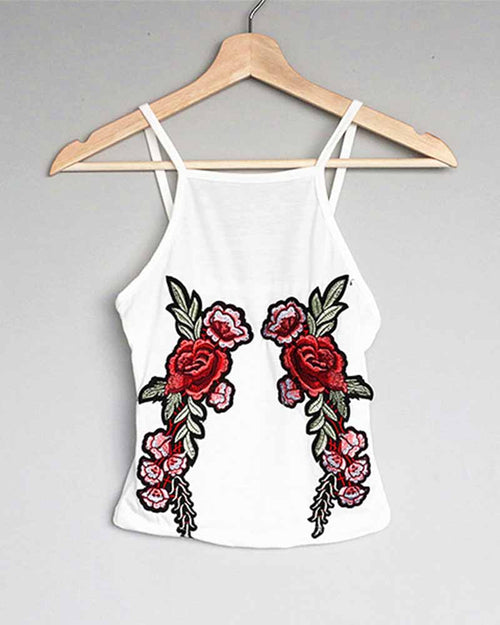Floral Embroidered Cami Top
