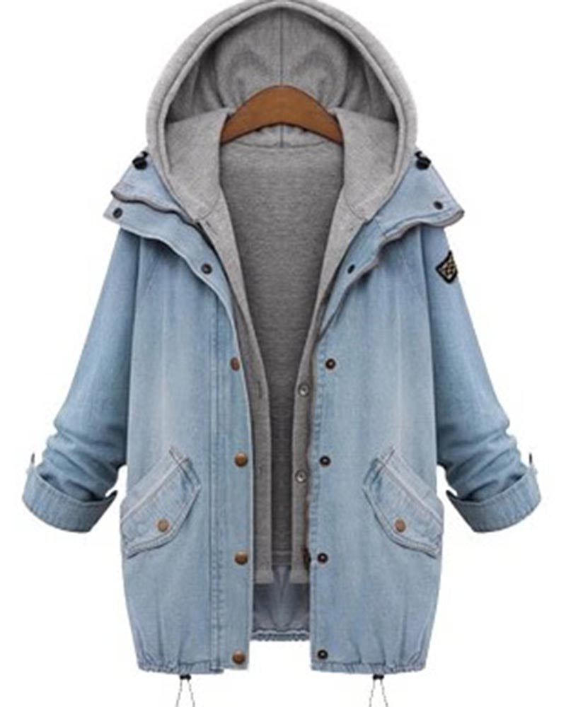 Boyfriend Trends Hooded Drawstring Two Piece Coat