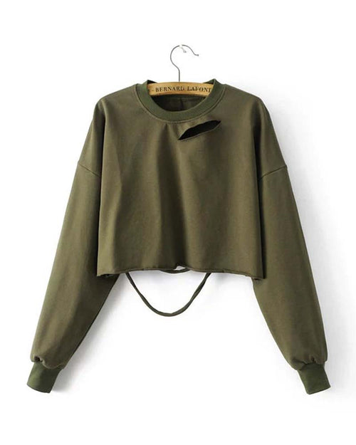 Cut Out Crop Sweatshirt