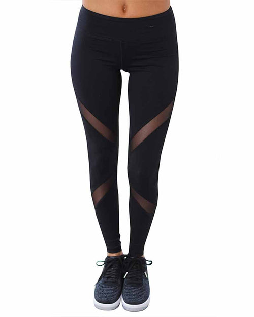 Mesh Contrast Yoga Leggings
