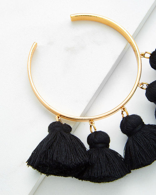 Adjustable Tassel Cuff Bracelet