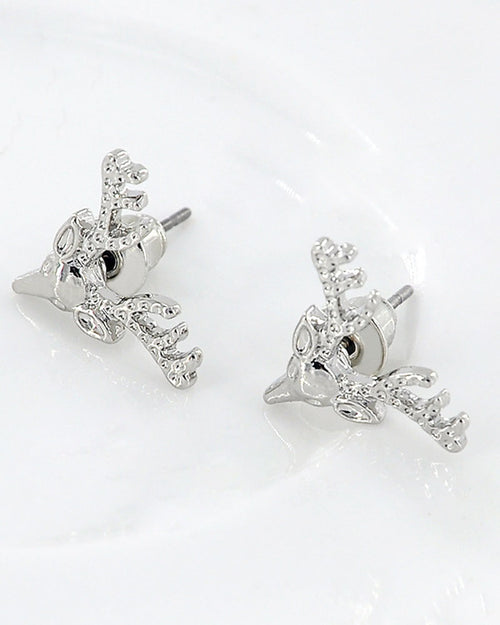 One Pair Christmas Elk Shape Stud Earrings