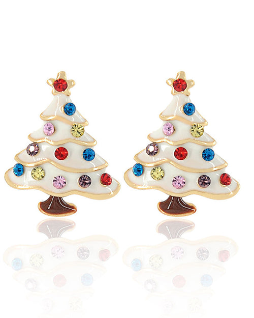 One Pair Christmas Tree Shape Stud Earrings