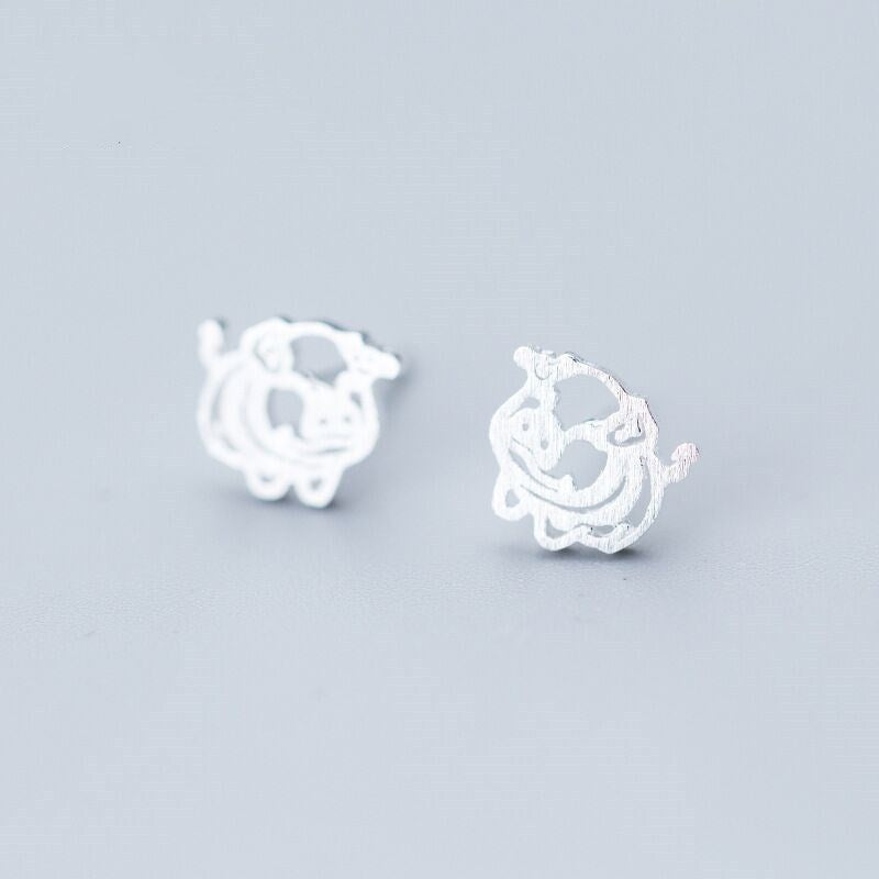 Sterling Silver Pig Earrings. - My Treasure Barn