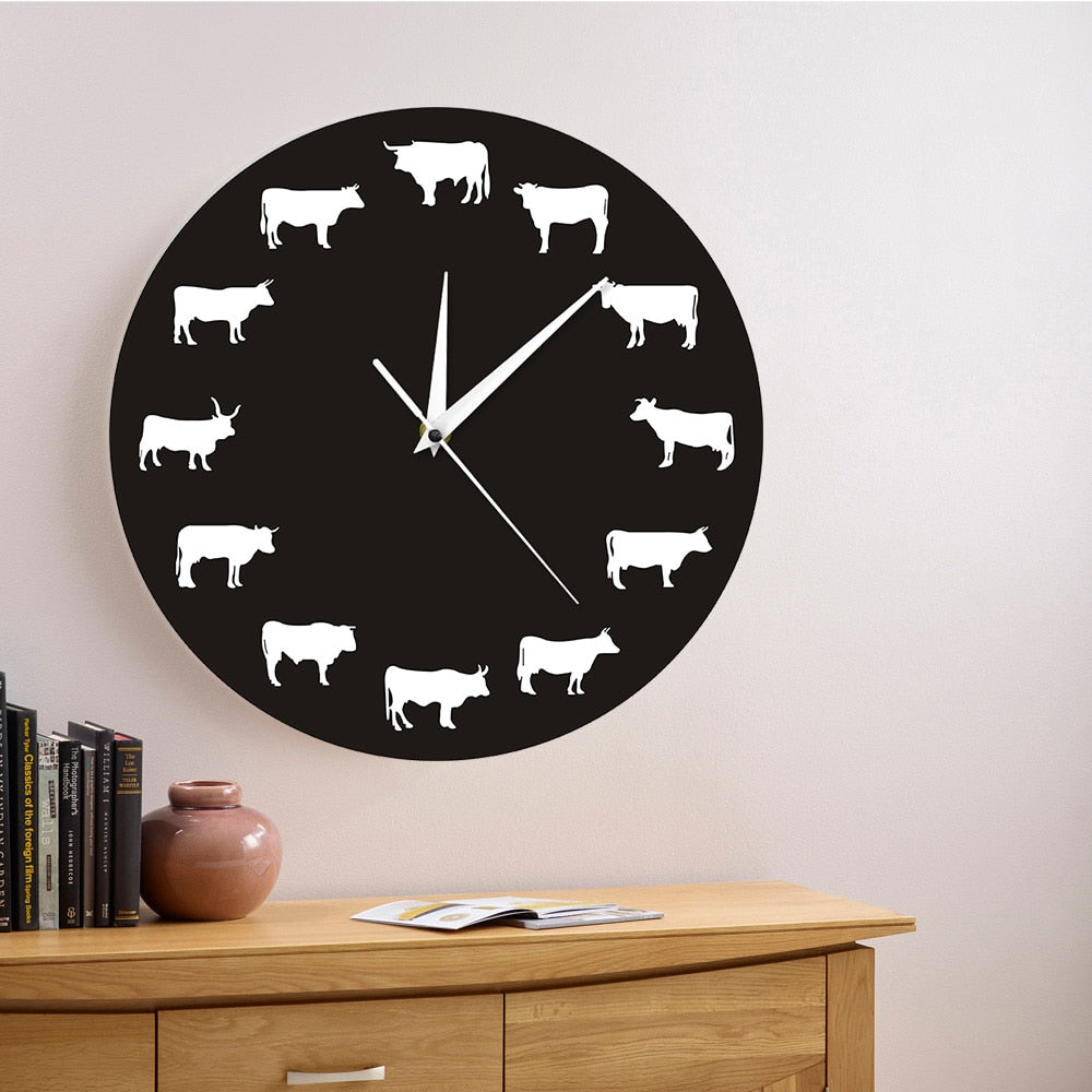 Farmhouse Animal Wall Clock - My Treasure Barn