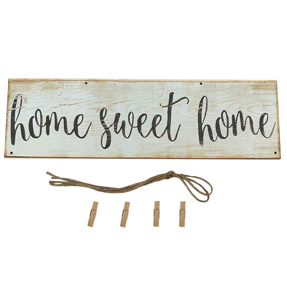 Vintage Sweet Home Letter Printed Wooden Sign - My Treasure Barn