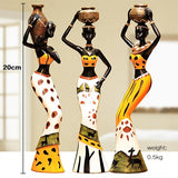 African Figure Sculpture Tribal Lady Figurine