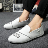 Canvas Loafers Men Shoes Slip-on Men Flat Driving Shoes Breathable Low Heel