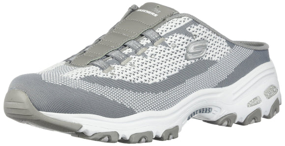 Skechers Women's D'Lites - A New Leaf Gray/White 8.5 B US