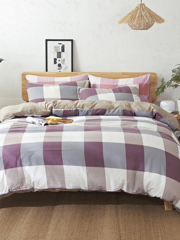 Check Plaid Bedding Set