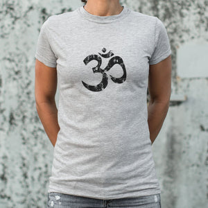 Ladies Om Symbol T-Shirt