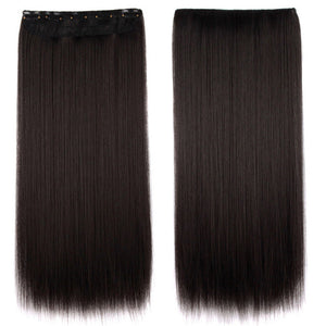 Hair Extension Black Brown Synthetic Fake False Hairpiece