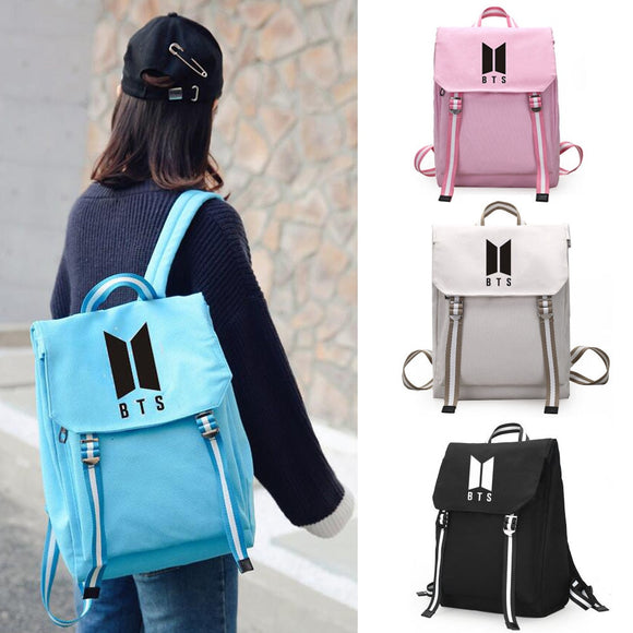 Kpop BTS Canvas Students Back Pack