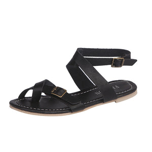 Flat Wedge Rome Style Tie up Sandals