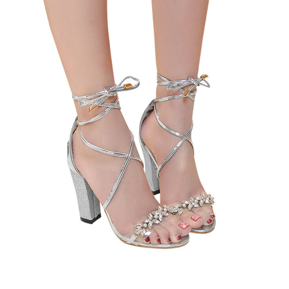 Fish Mouth Sandals Ankle High Heels