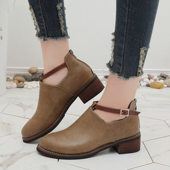 Fashion Boots Rounded Toe Classic Ankle Boots