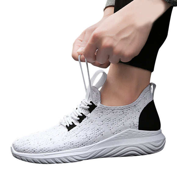 Solid Mesh Cross Tied Ventilation Gym Shoes