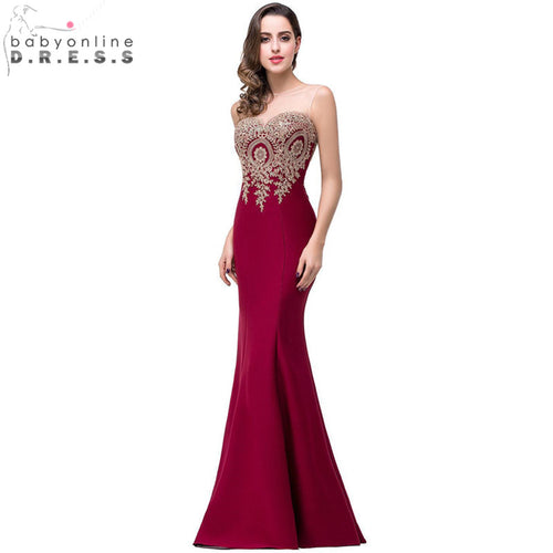 Sexy Backless Appliques Burgundy Mermaid Lace Long Prom Dresses 2018 Royal Blue Black Evening Party Dress Vestido de Festa Longo