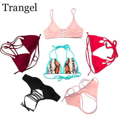 Trangel push up bikini top women swimwear panties sexy tops and bottoms two-piece separates swimsuit briefs biquini