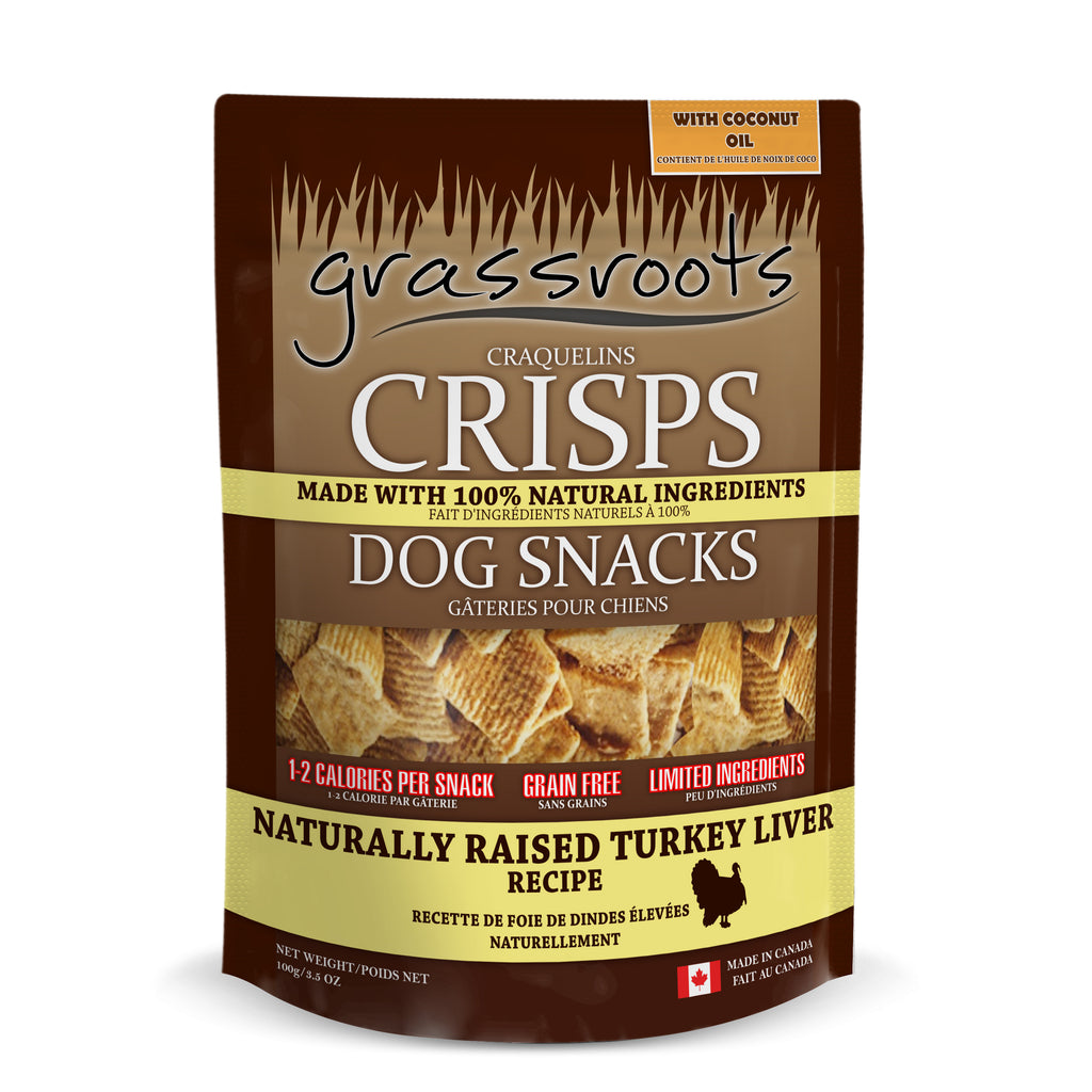 Grassroots Naturally Raised Turkey Liver Crisp 100G (6 pack)