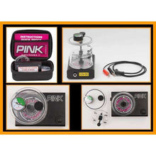 Pink Arrow Shock Pump with vacuum gauge.