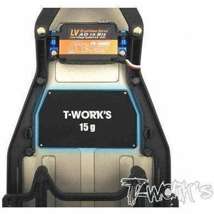 Tworks Alumn Chassis Weight for B6.  15G