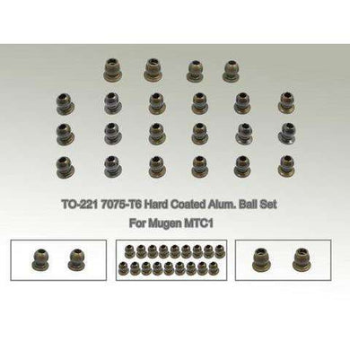 TWorks 7075-T6 Hard Coated Alumn Ball Set for Mugen MTC1