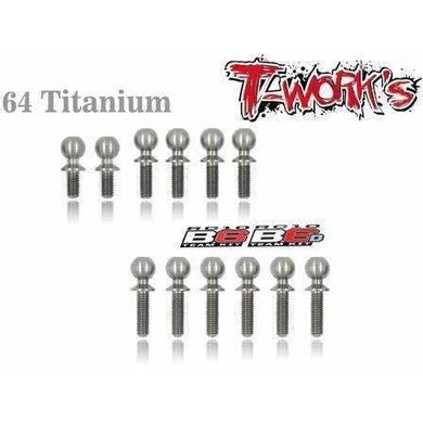 TWorks T64 Titainum Ball Stud Set for B6 Series