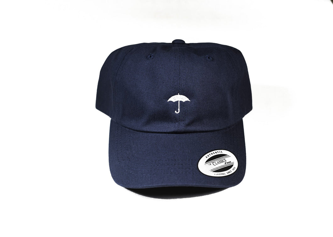 Navy Black Umbrella Baseball Hat