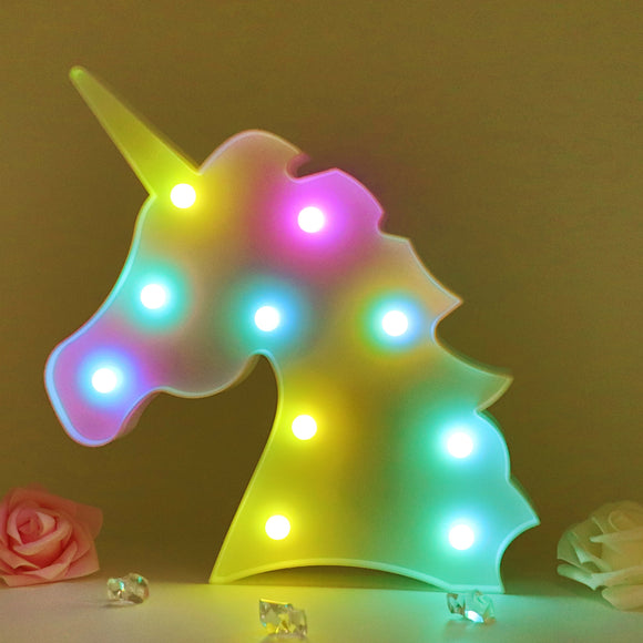 TONGER® Color Changing Unicorn Head Modeling Light
